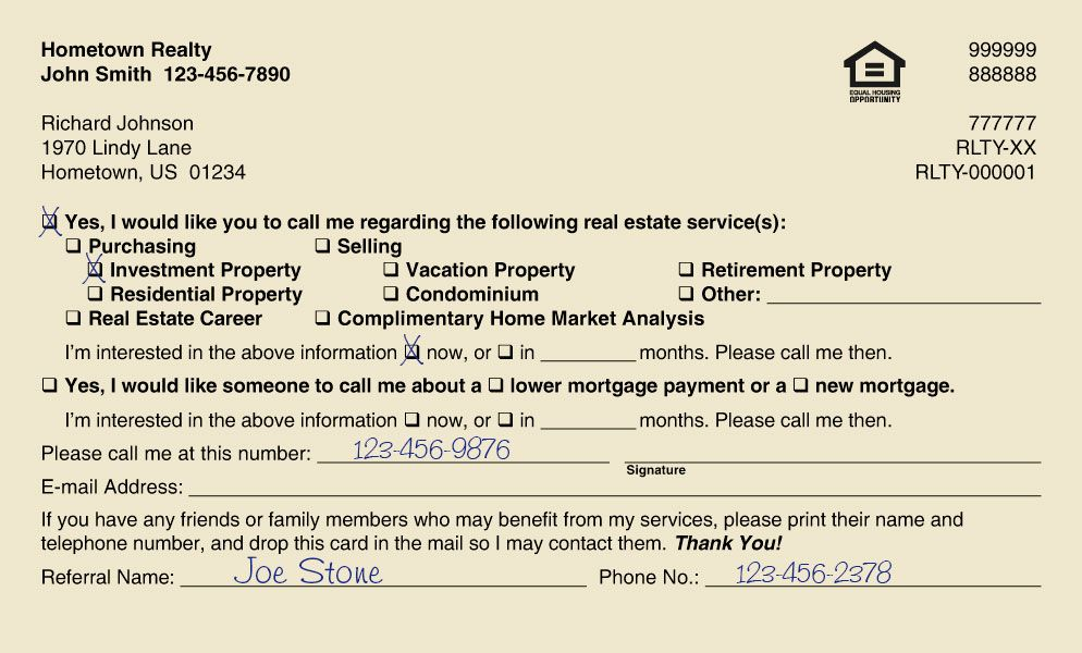 Real Estate Marketing – Real Estate Referral Letter