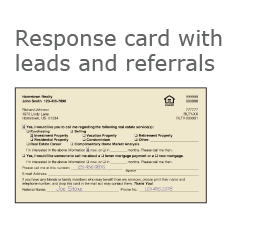Real Estate Response Card with Leads and Referrals