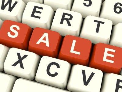 sales on a keyboard