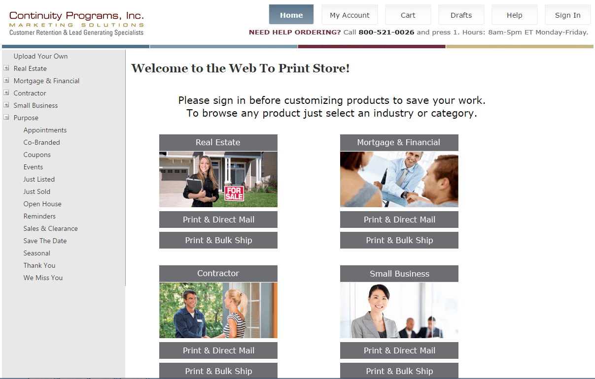 Web-To-Print Store