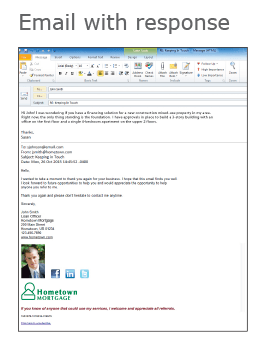 Mortgage Email with Lead Generation