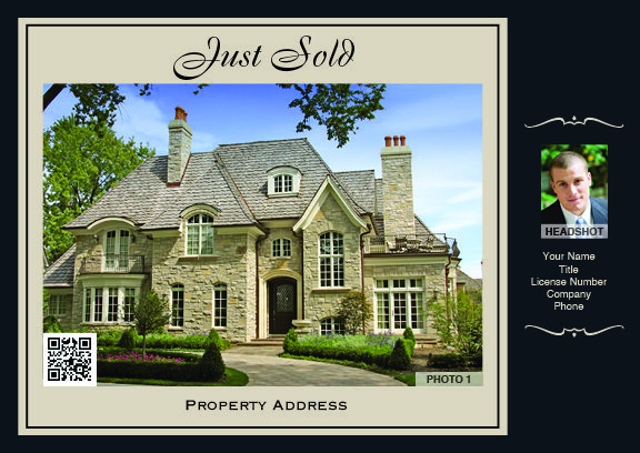 Real Estate Postcard Just Sold 9632A