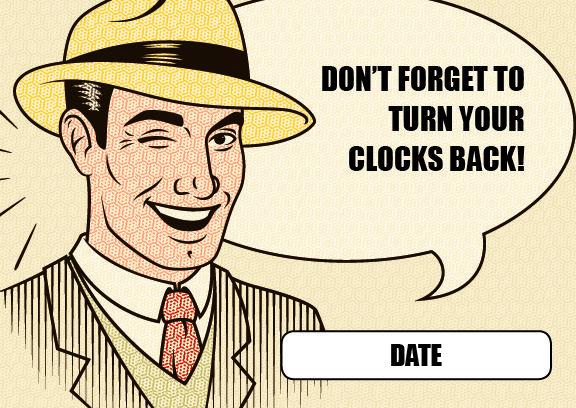 Daylight Savings Reminder Postcard