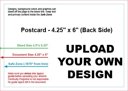 Upload Your Own Design & Mail #9799A