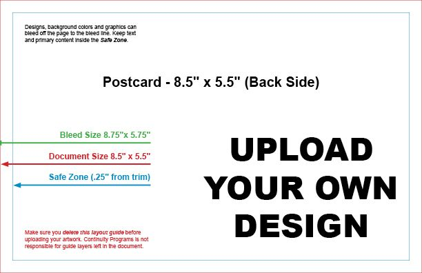 Upload Your Own Design & Mail #9799B