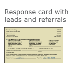 HVAC Response Card with Leads and Referrals