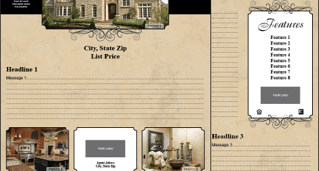 Real Estate Listing Flyer Sample