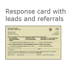 Mortgage Response Card with Leads and Referrals