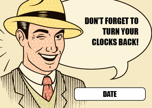 Daylight Savings Reminder Postcard
