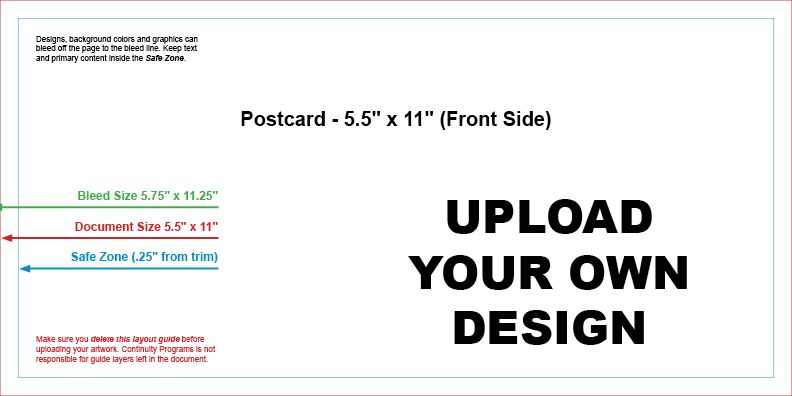 Upload Your Own Design & Mail #9799C