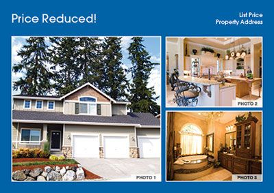 Real Estate Price Reduced Postcard