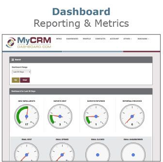 MyCRMDashboard Mortgage CRM Dashboard Screen
