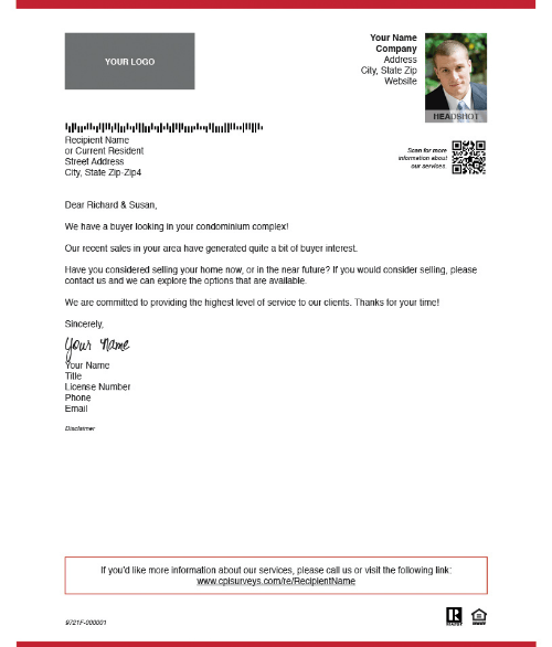 Real Estate Marketing Examples Of Prospecting Letter Templates