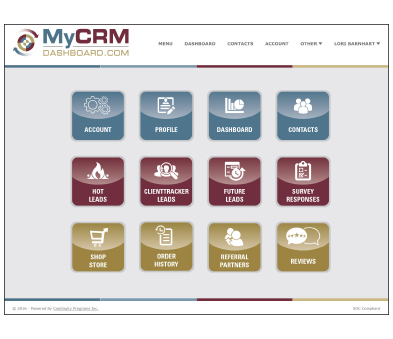 MyCRMDashboard Mortgage CRM Home Menu